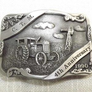 Canadian Toy Magazine 4th Anniversary Belt Buckle